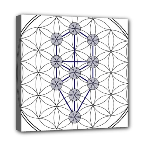 Tree Of Life Flower Of Life Stage Mini Canvas 8  x 8