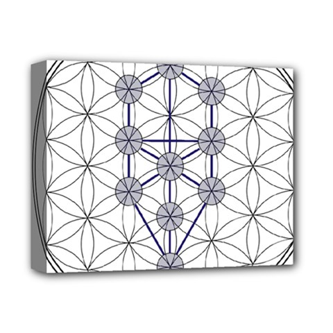 Tree Of Life Flower Of Life Stage Deluxe Canvas 14  x 11