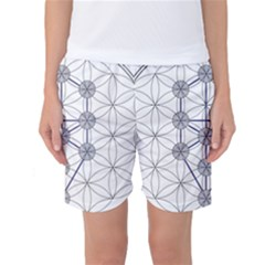 Tree Of Life Flower Of Life Stage Women s Basketball Shorts
