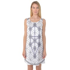Tree Of Life Flower Of Life Stage Sleeveless Satin Nightdress