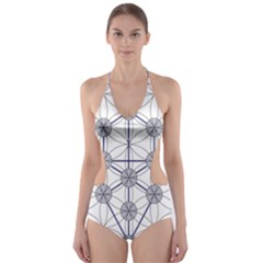 Tree Of Life Flower Of Life Stage Cut-Out One Piece Swimsuit