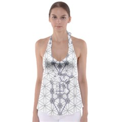 Tree Of Life Flower Of Life Stage Babydoll Tankini Top