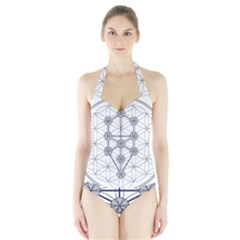 Tree Of Life Flower Of Life Stage Halter Swimsuit