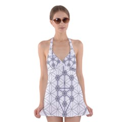 Tree Of Life Flower Of Life Stage Halter Swimsuit Dress
