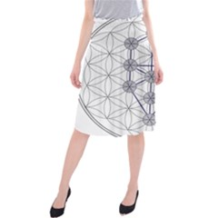 Tree Of Life Flower Of Life Stage Midi Beach Skirt