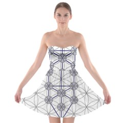 Tree Of Life Flower Of Life Stage Strapless Bra Top Dress