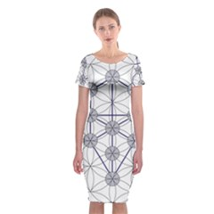 Tree Of Life Flower Of Life Stage Classic Short Sleeve Midi Dress