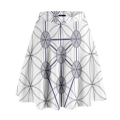 Tree Of Life Flower Of Life Stage High Waist Skirt