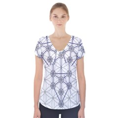 Tree Of Life Flower Of Life Stage Short Sleeve Front Detail Top