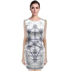 Tree Of Life Flower Of Life Stage Sleeveless Velvet Midi Dress