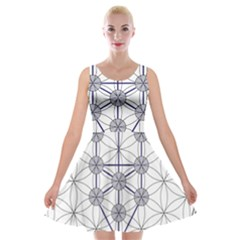 Tree Of Life Flower Of Life Stage Velvet Skater Dress