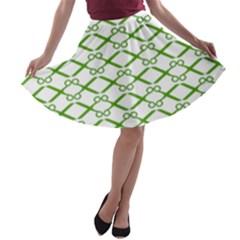 Wallpaper Of Scissors Vector Clipart A-line Skater Skirt