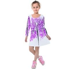 Purple Tree Kids  Long Sleeve Velvet Dress