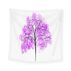 Purple Tree Square Tapestry (small)