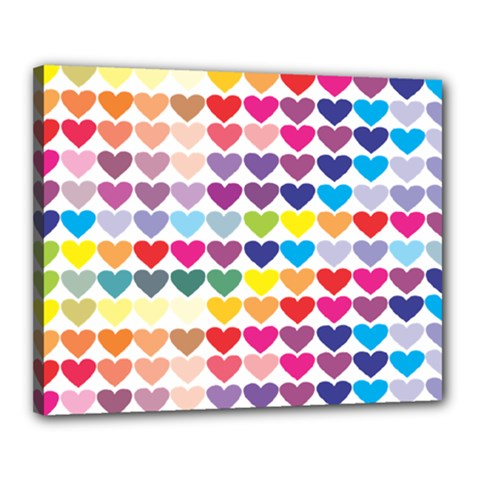 Heart Love Color Colorful Canvas 20  x 16