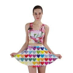 Heart Love Color Colorful Mini Skirt