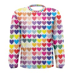 Heart Love Color Colorful Men s Long Sleeve Tee
