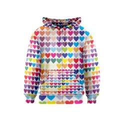 Heart Love Color Colorful Kids  Zipper Hoodie