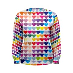 Heart Love Color Colorful Women s Sweatshirt
