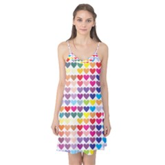 Heart Love Color Colorful Camis Nightgown