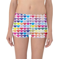 Heart Love Color Colorful Reversible Bikini Bottoms