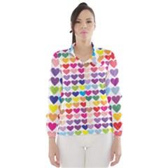 Heart Love Color Colorful Wind Breaker (Women)
