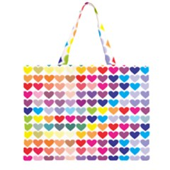 Heart Love Color Colorful Large Tote Bag