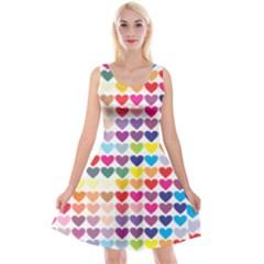 Heart Love Color Colorful Reversible Velvet Sleeveless Dress
