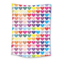 Heart Love Color Colorful Medium Tapestry