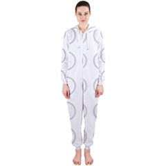 Butterfly Wallpaper Background Hooded Jumpsuit (Ladies)
