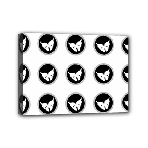 Butterfly Wallpaper Background Mini Canvas 7  x 5