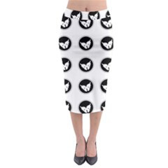 Butterfly Wallpaper Background Midi Pencil Skirt