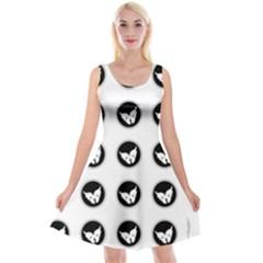Butterfly Wallpaper Background Reversible Velvet Sleeveless Dress