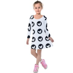 Butterfly Wallpaper Background Kids  Long Sleeve Velvet Dress