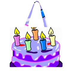 Cake Happy Birthday Large Tote Bag