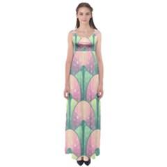 Seamless Pattern Seamless Design Empire Waist Maxi Dress