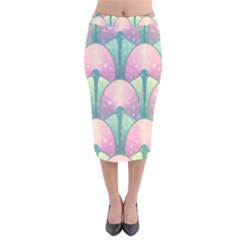 Seamless Pattern Seamless Design Velvet Midi Pencil Skirt
