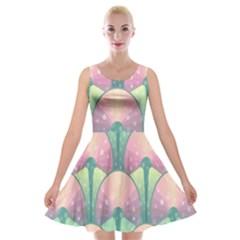 Seamless Pattern Seamless Design Velvet Skater Dress