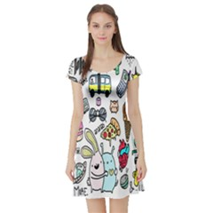 Story Of Our Life Short Sleeve Skater Dress