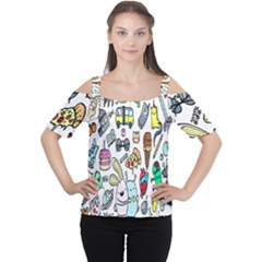 Story Of Our Life Women s Cutout Shoulder Tee
