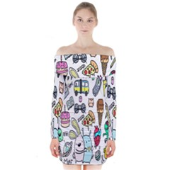Story Of Our Life Long Sleeve Off Shoulder Dress