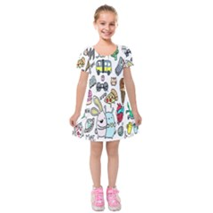 Story Of Our Life Kids  Short Sleeve Velvet Dress