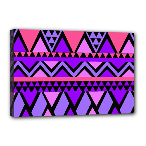 Seamless Purple Pink Pattern Canvas 18  x 12