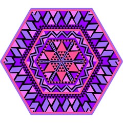 Seamless Purple Pink Pattern Mini Folding Umbrellas