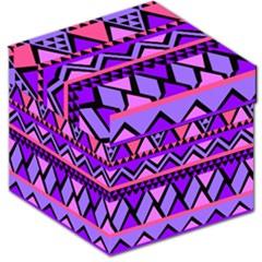 Seamless Purple Pink Pattern Storage Stool 12