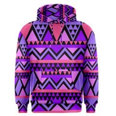 Seamless Purple Pink Pattern Men s Pullover Hoodie