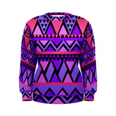 Seamless Purple Pink Pattern Women s Sweatshirt