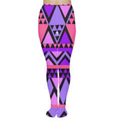 Seamless Purple Pink Pattern Women s Tights