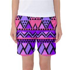 Seamless Purple Pink Pattern Women s Basketball Shorts