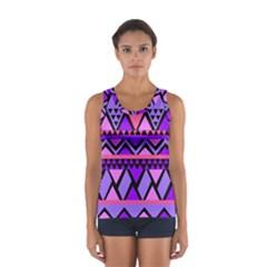 Seamless Purple Pink Pattern Women s Sport Tank Top
